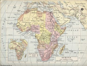 Map of Africa 1900